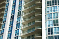 High Rise Apartment Balconies Stock Photography