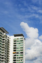 High rise apartments with clear blue sky Royalty Free Stock Image