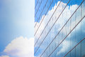 High rise building with blue sky and cloudy Royalty Free Stock Images