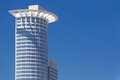 High-rise building on blue sky- Frankfurt am Main Germany- Westend Tower Royalty Free Stock Photo