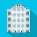 High-rise building, skyscraper,Realtor single icon in flat style vector symbol stock illustration web.