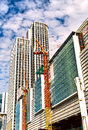 High rise building it was being built buildings at kuala lumpur malaysia Royalty Free Stock Photography