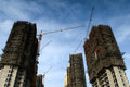 High rise buildings constructing in china Royalty Free Stock Photo