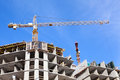 High-rise buildings under construction Royalty Free Stock Photo