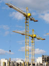 High-rise buildings under construction in progress. Stock Photo