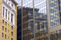 High rise reflections in saint paul historic building reflected modern glass Stock Photos