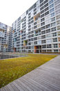 High rise residential courtyard Stock Photos