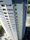 High riser storey residential building in russia Royalty Free Stock Photos