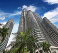 High-rises under blue sky Royalty Free Stock Photo