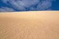 High sand hill ridge with blue sky at Little Sahara, Kangaroo Is Royalty Free Stock Photo