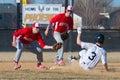 High School Baseball shortstop Royalty Free Stock Photo