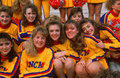 High school cheerleaders smiling Royalty Free Stock Photography