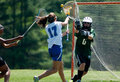 High School Girls Lacrosse Royalty Free Stock Photo