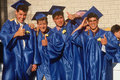 High school graduates celebrating Royalty Free Stock Images