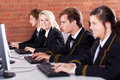 High school students computer Stock Images