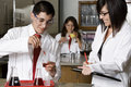 High School Students With Professor In Science Lab Royalty Free Stock Photo