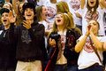 High school supporters Royalty Free Stock Photo
