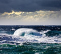 High sea wave during storm Royalty Free Stock Images