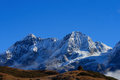 The high snow-capped mountains Royalty Free Stock Images