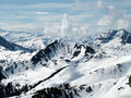 High snow covered mountains Stock Images