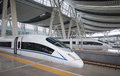 High speed ​​rail beijing railway station south is the world s largest in Royalty Free Stock Photos