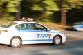 High speed chase nypd car engaged in a Stock Images