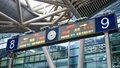 High speed railway station signs and directions, China Royalty Free Stock Photo