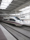 High speed train atocha station madrid spain spain s main cities connected high speed trains Royalty Free Stock Photos