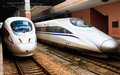 High speed train in China Stock Image