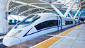 High speed train in China Royalty Free Stock Photo