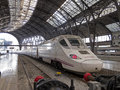 High speed train france station barcelona spain spain s main cities connected high speed trains Stock Images