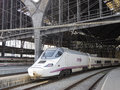 High speed train france station barcelona spain spain s main cities connected high speed trains Stock Photos