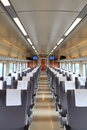 High speed train interior Royalty Free Stock Images