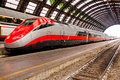 High speed train in italy waiting for passengers at milano central station Royalty Free Stock Photo