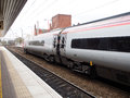 High speed train at a local train station in Liverpool, UK Royalty Free Stock Photo
