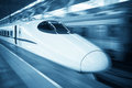 High speed train locomotive closeup Royalty Free Stock Photos