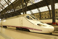 High speed train in station Stock Images