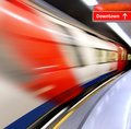 High-speed train in subway Stock Image