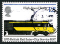 High Speed Train UK Postage Stamp Royalty Free Stock Photo