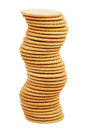 The high stack of biscuits figure Stock Photo