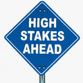 High stakes ahead Royalty Free Stock Photo