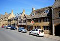 High street chipping campden view along the showing shops and tea rooms cotswolds gloucestershire england uk western europe Royalty Free Stock Photography