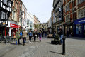 High street, Lincoln. Royalty Free Stock Photo