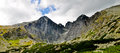 High Tatra mountains panorama Stock Image