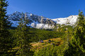 High tatra mountains panorama of the caterpillar valley in the polish Stock Photo