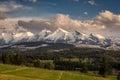 High tatra mountains in Poland Royalty Free Stock Photo