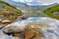 Tatras Five Polish Ponds Valley Carpathians mountains landscape Royalty Free Stock Photo
