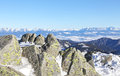 High tatras from low tatras slovakia mountains mountains Royalty Free Stock Image