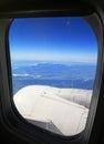 High Tatras mountains from airplane, Slovakia