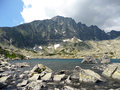 The high tatras mountains lake batizovská slovakia Royalty Free Stock Images